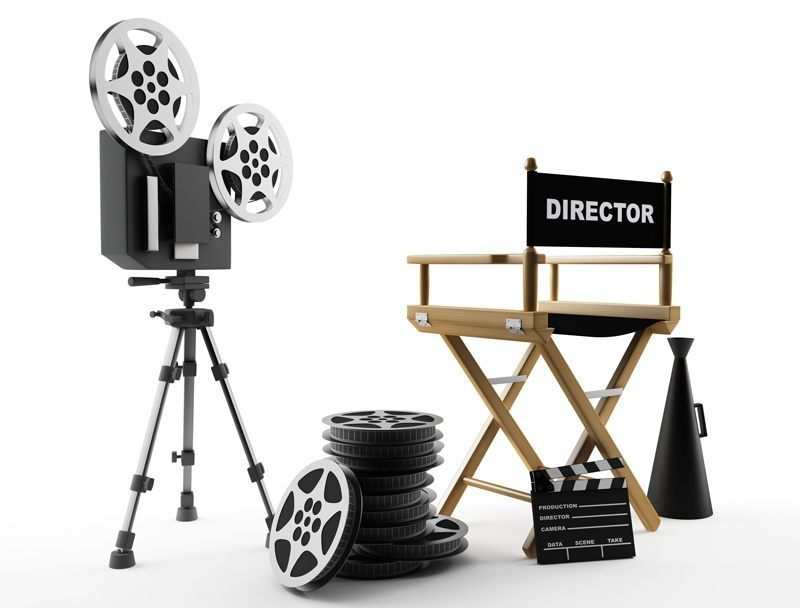 Director chair and cameras